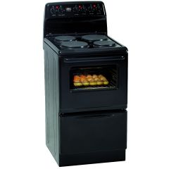 Defy DSS506 500mm Black 4 Plate Free Standing Oven