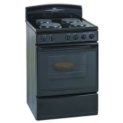 Defy DSS512 600mm Black 4 Plate Free Standing Oven