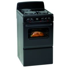 Defy DSS513 500mm Black 3 Plate Free Standing Oven