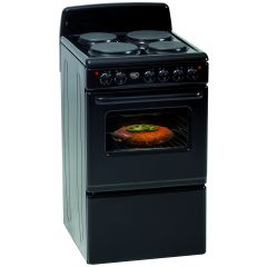Defy DSS514 500mm Black 4 Plate Free Standing Oven