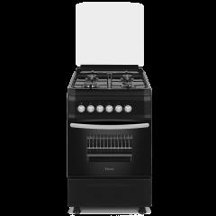 Ferre F5S40G2.FDI.B 500mm Black 4 Burner Gas Free Standing Oven
