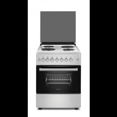 Ferre F6B04E3.TT.I 600mm Inox 4 Plate Electric Free Standing Oven