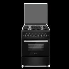 Ferre F6B40G2.MB 600mm Black 4 Burner Gas Freestanding Oven