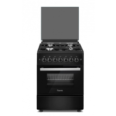 Ferre F5C40G1.B 500mm Black 4 Burner Gas Free Standing Oven