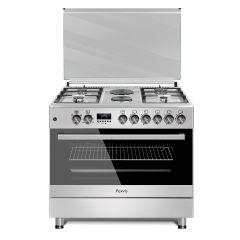 Ferre F9S42E3.FDIDTLC.I 900mm Silver  4 + 2 Electric Burners Gas/Electric Free Standing Oven