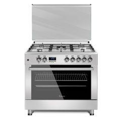 Ferre F9S50E3.FDIDTLC.I 900mm Silver 5 Burner Gas/Electric Free Standing Oven