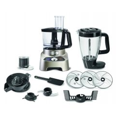 Moulinex FP824H10 1000W Silver Double Force Food Processor