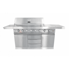 Alva GBPR101 The Business 6 Burner With Side Burner Gas Braai