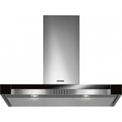 Grundig GDI 5795 BXB 900mm Stainless Steel Eco Silent Wall Mounted Extractor