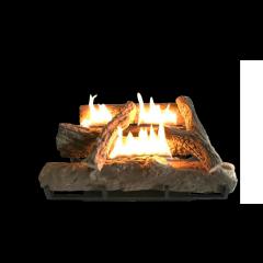 Alva GFP100 520mm Log Fireplace Gas Heater