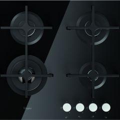 Whirlpool GOA 6423 /NB 600mm Black 4 Burner Gas on Glas Hob