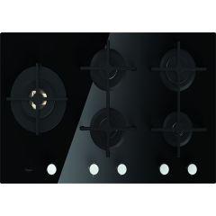 Whirlpool GOA 9523 /NB 900mm Black 5 Burner Gas on Glass Hob