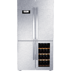 Grundig GWN21210 X 519L Stainless Steel Side-By-Side With  Wine Cooler Fridge/Freezer