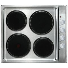 Hisense H60STES 600mm Stainless Steel 4 Plate Solid Hob