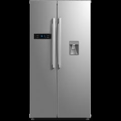 Midea HC-683WEN(ESNY) 522L Stainless Steel Side By Side Fridge/Freezer with Water Dispenser
