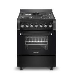 Hisense HFS604EEB 600mm Black 4 Plate Free Standing Oven