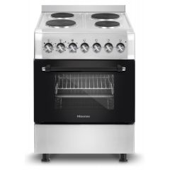 Hisense HFS604EES 600mm Stainless Steel 4 Plate Free Standing Oven