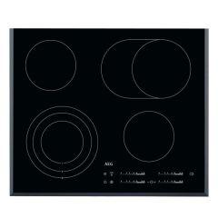 AEG HK654070FB 600mm Black 4 Plate Ceramic Slide Control Hob