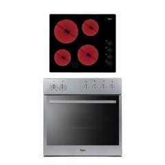 Whirlpool IB 543 IX 600mm Stainless Steel Oven & Ceramic Hob Bundle