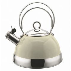 Swiss Appliances KET2500W 2.5L White Cordless Whistling Kettle