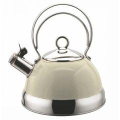 Swiss Appliances KET2500W 2.5L White Cordless Whistling Kettle