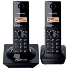 Panasonic KX-TG1712SAB Black Duo Cordless Phones