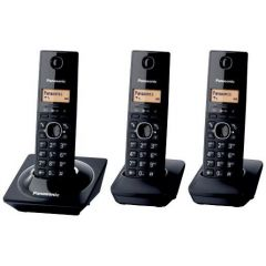 Panasonic KX-TG1713SAB Black Trio Cordless Phones