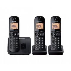 Panasonic KX-TGC213SAB Black 3 Digital Cordless Phones