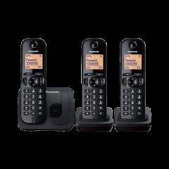 Panasonic KX-TGC213SAB Black 3 Digital Cordless Phones