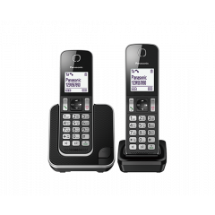 Panasonic KX-TGD312SAB Black Dual Cordless Phones