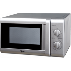 Midea MM720CTB-S 20L Silver Manual Microwave