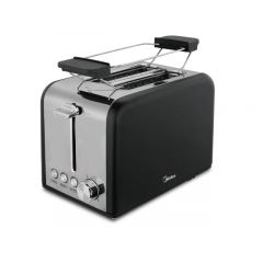 Midea MT-RS2L13W-B 2 Slice Black Toaster