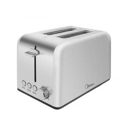Midea MT-RS2L13W-SS 2 Slice Stainless Steel Toaster