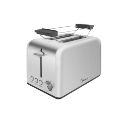Midea MT-RS2L17W-SS 2 Slice Stainless Steel Toaster