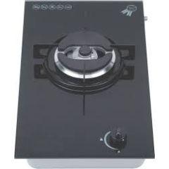 Swiss Appliances PF310STGB 300mm Black Glass Domino Gas Hob