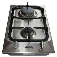 Swiss Appliances PF320SXC 300mm Stainless Steel 2 Burner Gas Hob