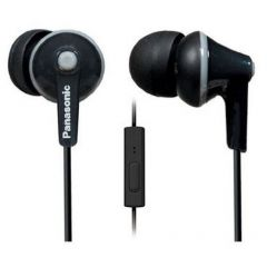 Panasonic RP-TCM125E-K Black In-Ear Headphones with Mic + Controller