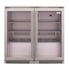 SnoMaster SD-220SS 200L Stainless Steel Under Counter Beverage Cooler