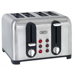 Defy TA4203S 4 Slice Stainless Steel Toaster