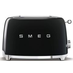 Smeg TSF01BLSA 2 Slice Retro Black Toaster