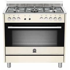 Bertazzoni TUS95C61LDCR Europa 900mm Cream Gas & Electric Free Standing Oven
