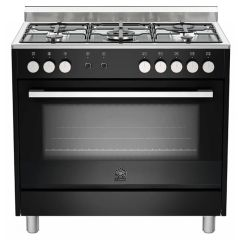 Bertazzoni TUS95C61LDNE Europa 900mm Black Gas & Electric Free Standing Oven