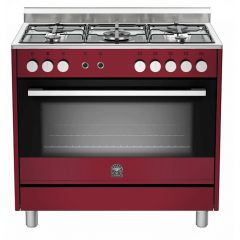 Bertazzoni US95C61LDVI Europa 900mm Burgandy Gas & Electric Free Standing Oven