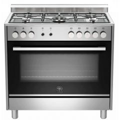 Bertazzoni TUS95C61LDX Europa 900mm Stainless Steel Gas & Electric Free Standing Oven