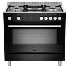 Bertazzoni TUS95C81DNE Europa 900mm Black Gas Free Standing Oven