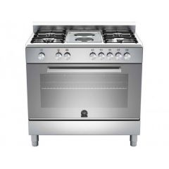 Bertazzoni TUS98261LDX Europa 900mm Stainless Steel Gas & Electric Free Standing Oven