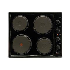 Univa U156B 600mm Black 4 Plate Solid Hob