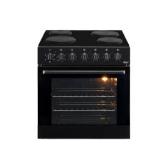 Univa U336B 600mm Black Under Counter Oven & 4 Plate Solid Hob Combo
