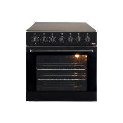 Univa U336CB 600mm Black Under Counter Oven & 4 Ceramic Plate Combo
